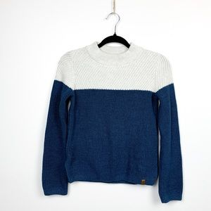 Roots Heavy Knit Blue & White Sweater